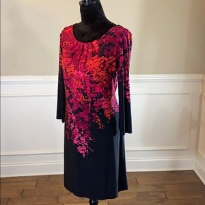 ✨Like New✨London Times Colorful Patterned LS Dress